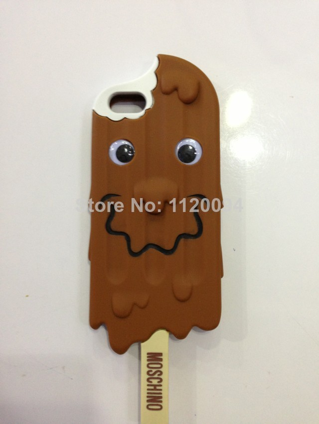 1piece free shipping chocolate design for iphone 5 5s 4 4s case moschino  ice cream design soft rubber cell phone cases covers-in Phone Bags & Cases from Electronics on Aliexpress.com