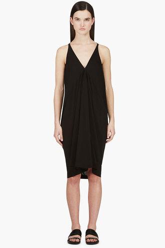 aurora black crepe line tunic dress clothes women short dresses