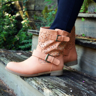 shoes boots ankle boots fall boots low heel southwestern trendy buckle detail
