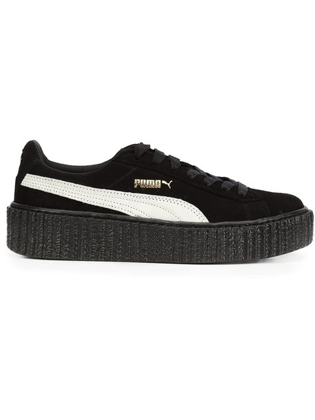 puma women sneakers suede black shoes