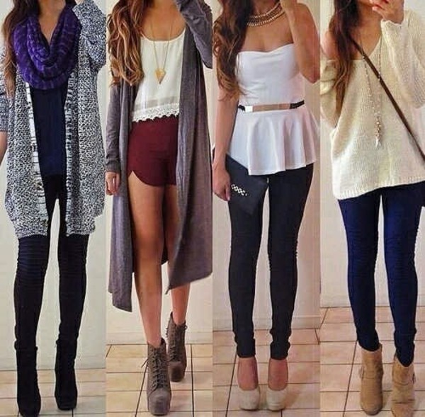 scarf cardigan top t-shirt