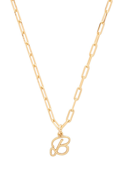 joolz by Martha Calvo B Initial Necklace in gold / metallic