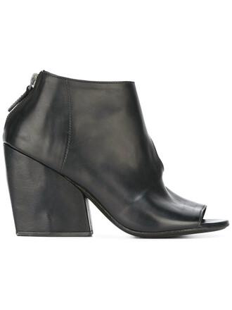 zip women sandals leather black shoes