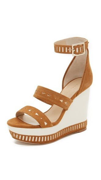 tan wedges suede shoes