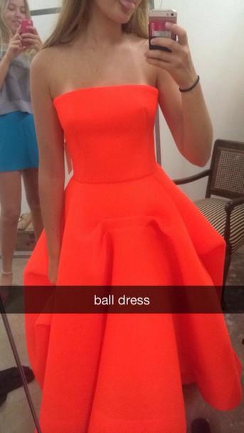 dress ball gown dress orange dress ball dress formal