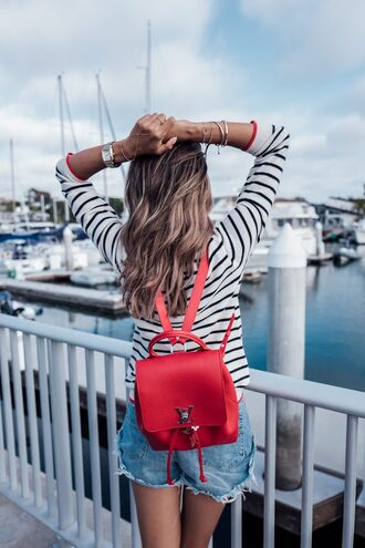 bag tumblr backpack red backpack top bracelets stacked bracelets stacked jewelry accessories accessory jewels jewelry watch silver watch