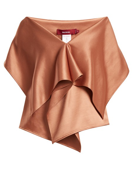 SIES MARJAN top cape satin bronze
