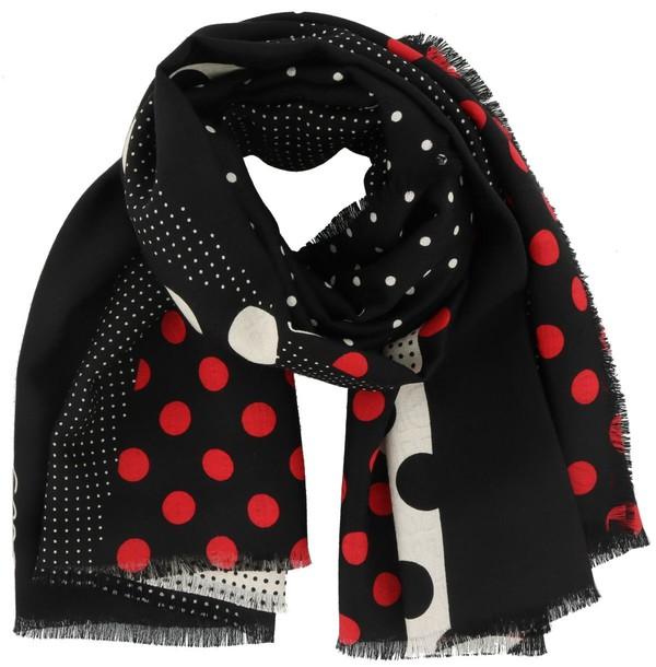 patchwork scarf grey multicolor