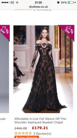 dress elegan gossip girl runway black lace prom pretty dress