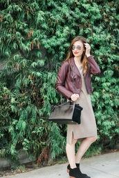 m loves m,blogger,dress,jacket,shoes,bag,sunglasses,make-up