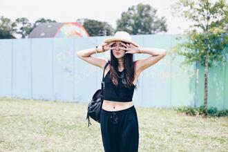 color me nana blogger top pants hat shoes tank top shorts dress sunglasses jeans