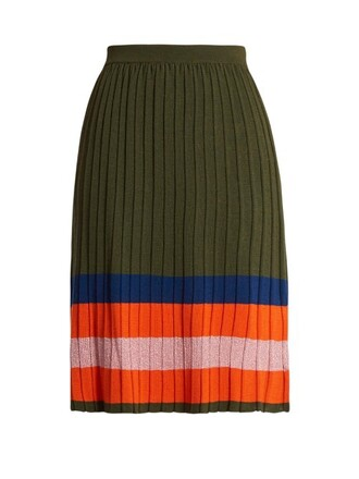 skirt wool khaki