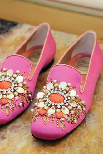 shoes love pink bejeweled loafers smoking slippers