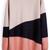 Pink Black Beige Long Sleeve Geometric Asymmetrical Sweater - Sheinside.com