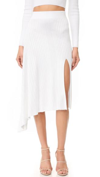 skirt midi skirt asymmetrical midi white