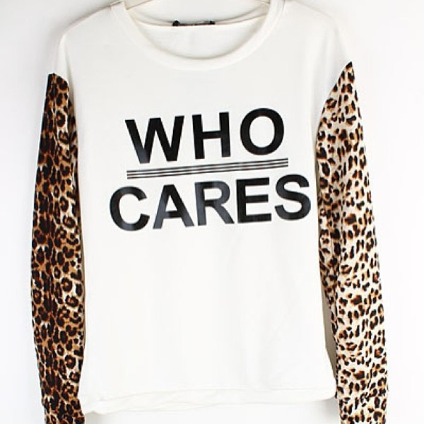 shirt who cares sweater leopard print animal print top makeup table vanity row dress to kill rock vogue chic fashion leopard print
