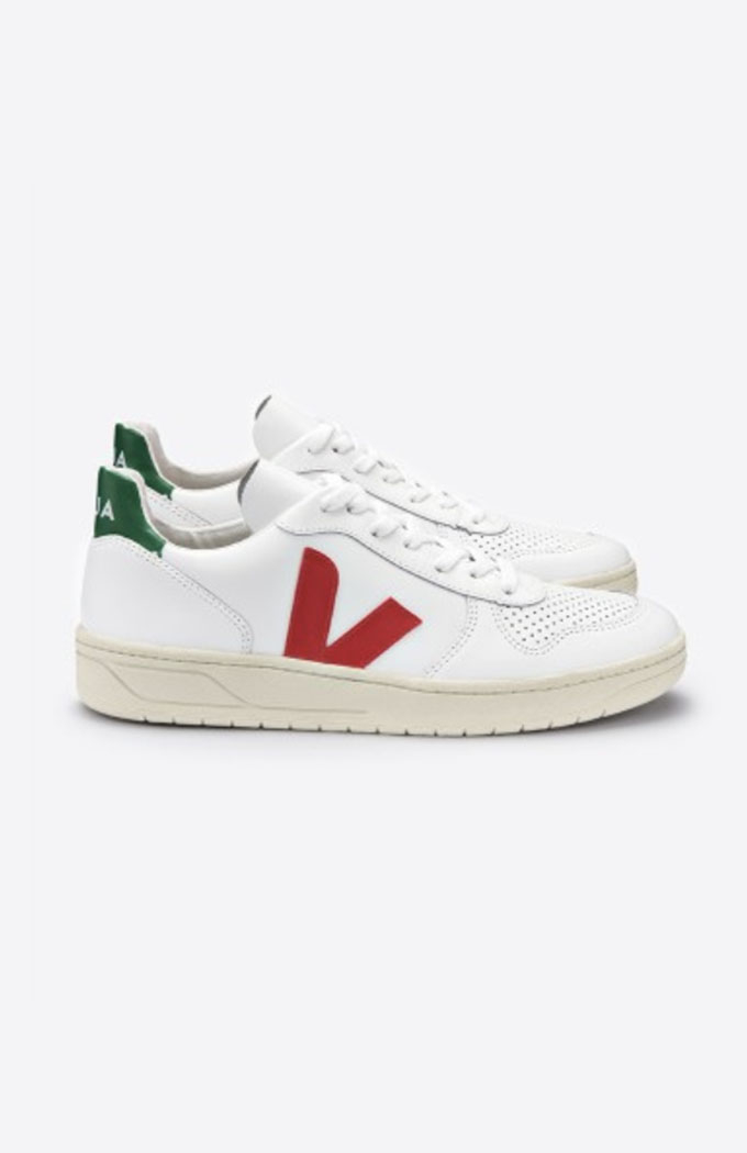 V10 Extra White Sneaker - Pekin Emeraude
