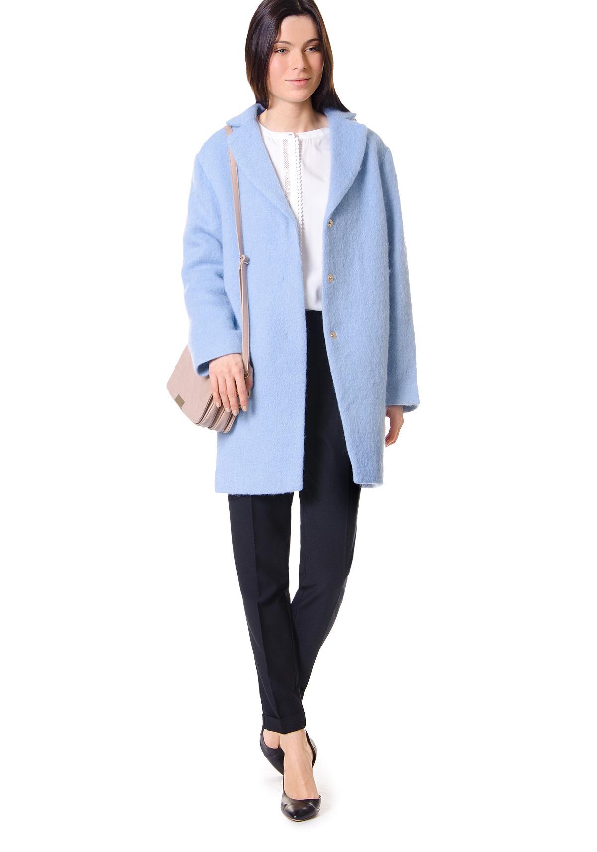 2a816623809 Пальто - синий цвет. Состав  30% шерсть