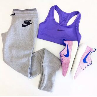 sportswear sports bra shoes pants purple roshes top workout nike running shoes nike air nike sneakers nike shoes nike sweatpants nike brand tank top swimwear leggings nike purple sportswear nike