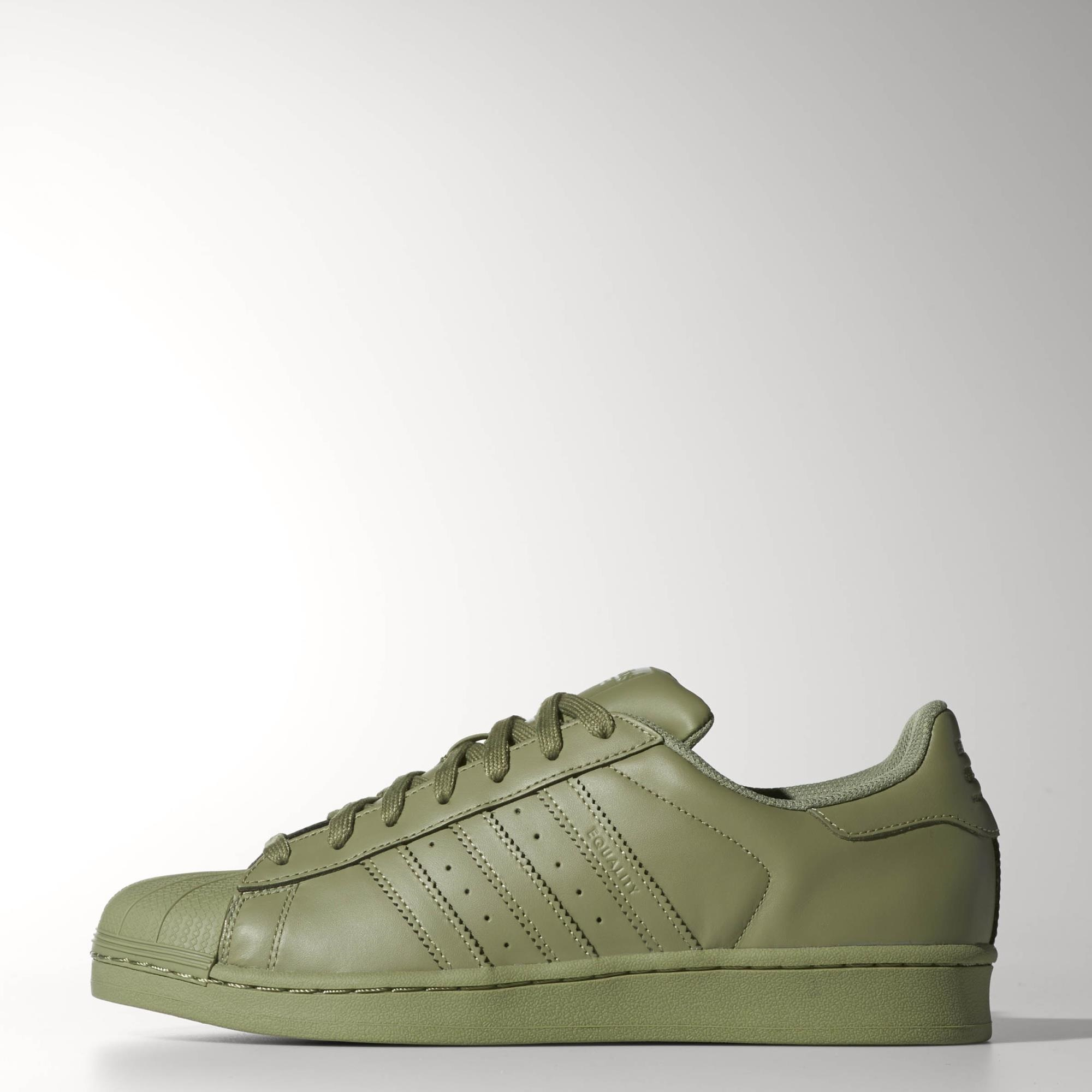 olive green adidas superstar