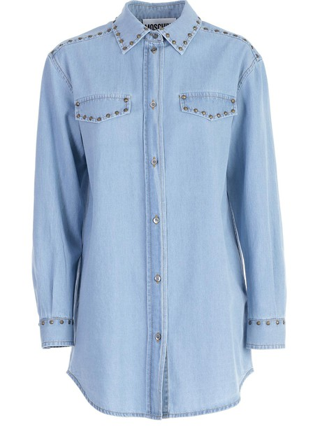 Moschino shirt light blue light blue top