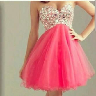 dress rose pailette