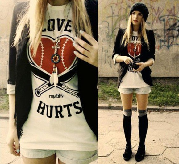 t shirt shirt love hurts