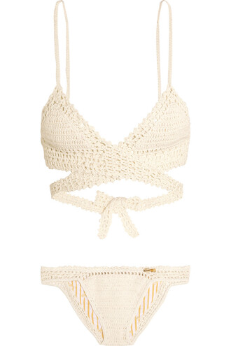 bikini triangle bikini triangle cotton white off-white swimwear