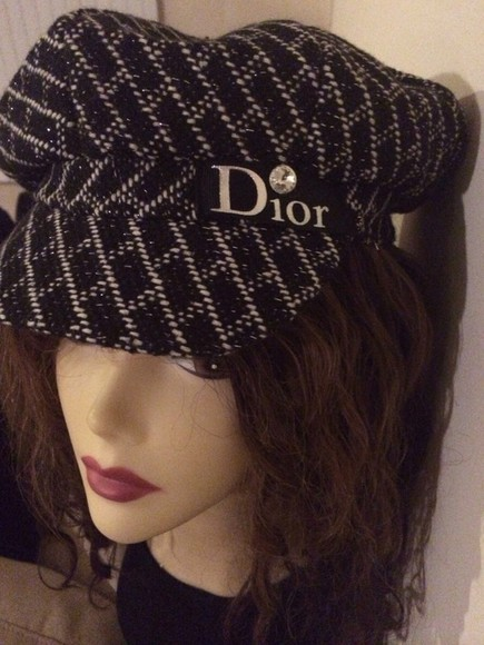 silver black black hat tumblr girl tumblr dior black cap black and silver black and white