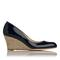 Zella patent leather wedge court