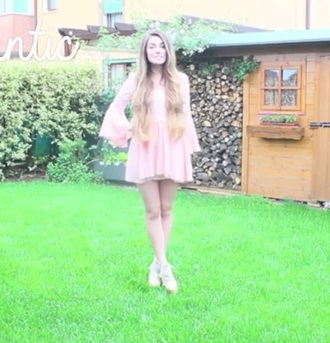 dress pink dress fairytale cute marziapie