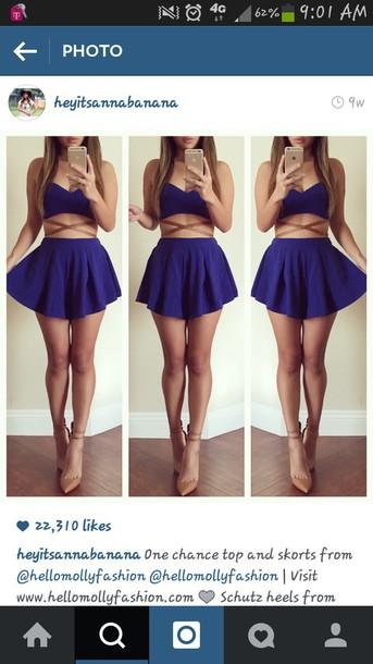 jumpsuit need asap skirt blue fashion