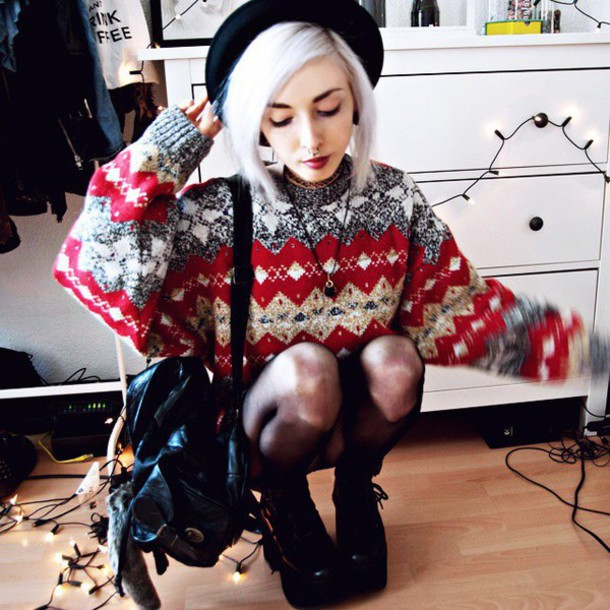 Sweater: christmas sweater, cute sweaters, fashion, tumblr outfit ...