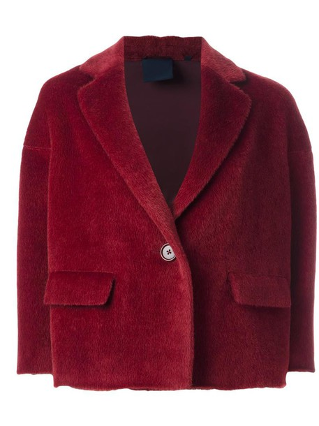 jacket cropped jacket cropped women wool red