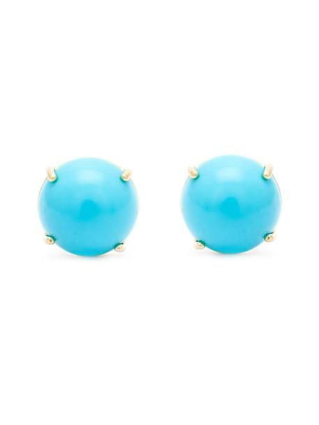 Irene Neuwirth women earrings stud earrings gold blue turquoise jewels