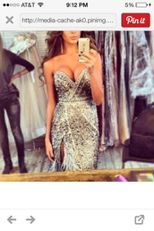 dress,sparkly silver feathers prom dress,silver,prom dress,long prom dress,strapless,glitter,sparkle