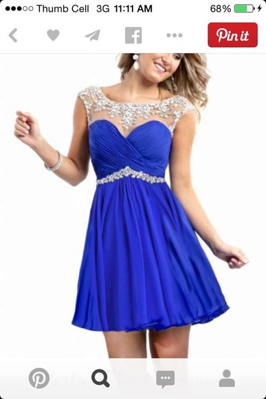 blue dress jewels pretty
