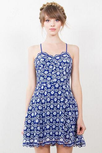 dress 2016 blue print strapless dress mini dress blue and white bikiniluxe