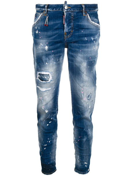 Dsquared2 jeans women spandex cotton blue
