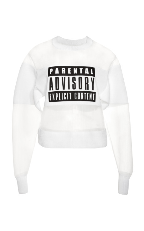 Parental advisory sweatshirt by alexander wang for preorder on moda operandi