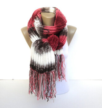 scarf knitted scarf women scarfs 2014 scarfs trends winter outfits winter fashion in scarf fashion outerwear fall outfits best gifts stripes batik pink beige white
