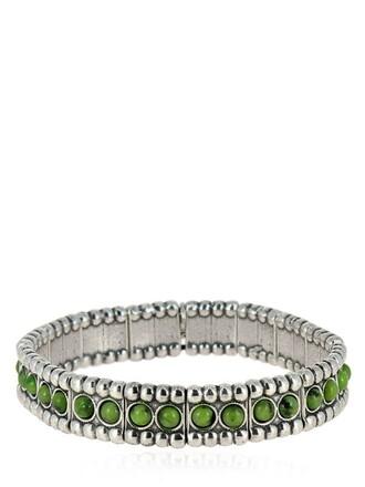 green silver jewels