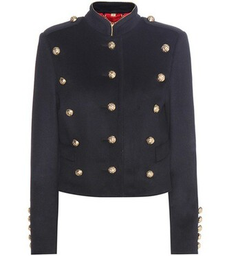 jacket wool blue