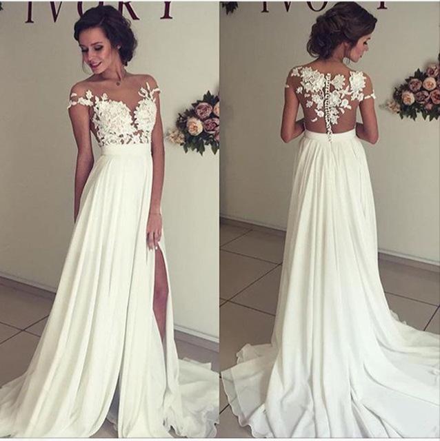 Aliexpress.com : Buy Simple White Long Prom