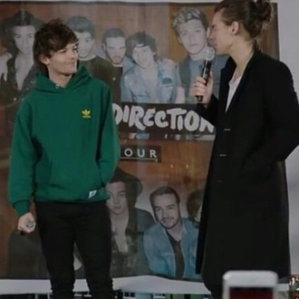 sweater louis tomlinson green hoodie adidas