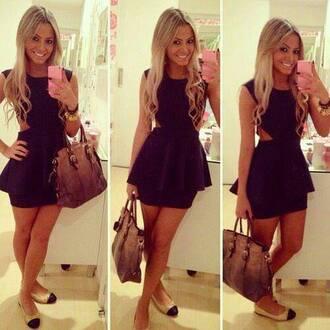dress black dress prom dress clothes hipster short dress
