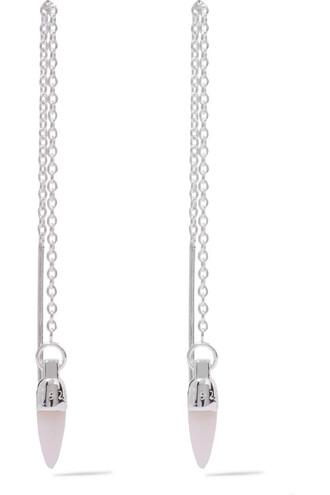 opal earrings silver jewels
