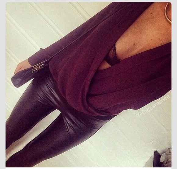 cute top party outfits leather pants