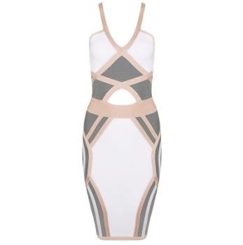 Neutral bandage dress