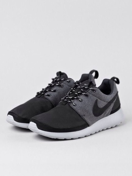 nike shoes nike running shoes gray and black nike roshe roshe runs gray and black